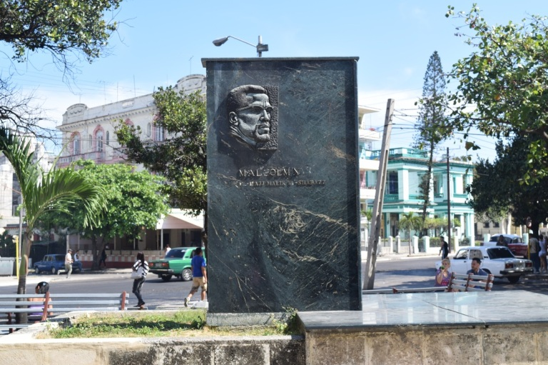 Malcolm X Monument at Parque MLK in Havana
