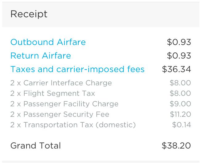 flight receipt