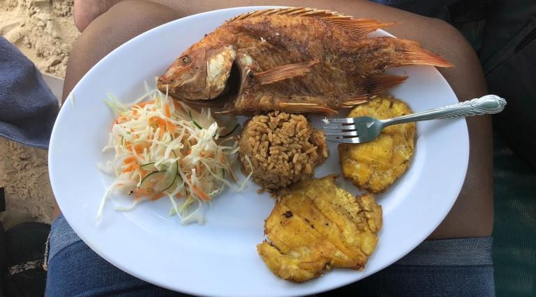 lunch at Playa Blanca
